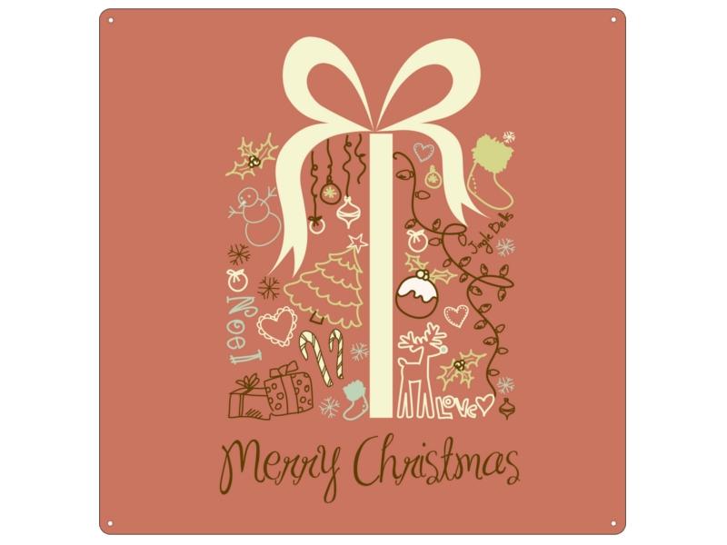 20x20cm metallschild blechschild merry christmas geschenk. Black Bedroom Furniture Sets. Home Design Ideas
