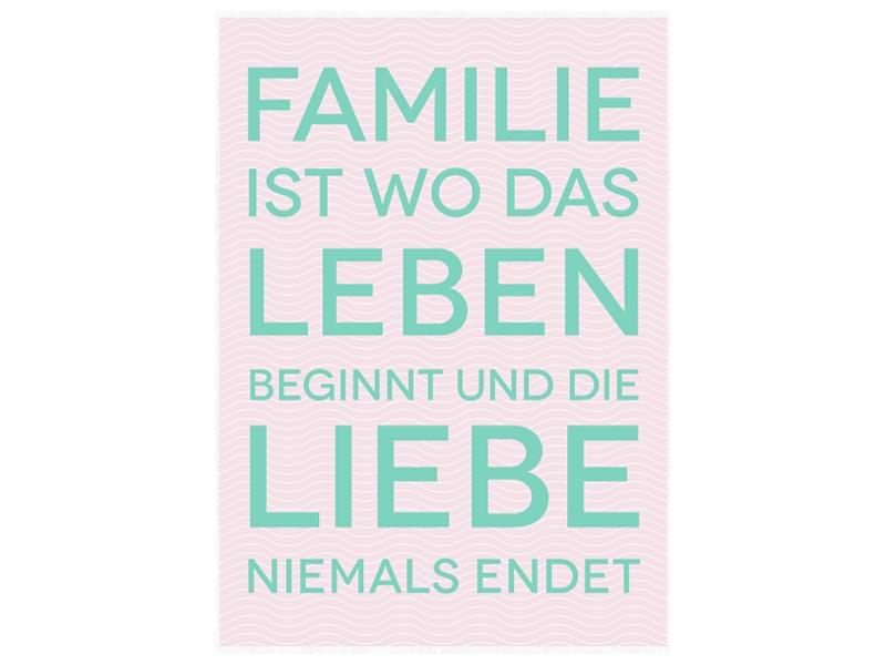 Bild leinwand keilrahmen familie ist wo das leben wandbild motivation - Wandbild familie ...
