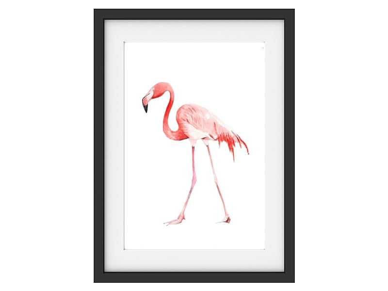 interluxe vintage druck kunstdruck flamingo modern art. Black Bedroom Furniture Sets. Home Design Ideas