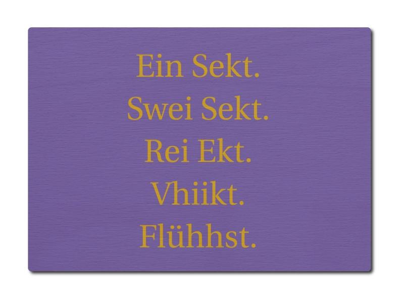 Luxecards Postkarte Aus Holz Ein Sekt Spruch Geschenk