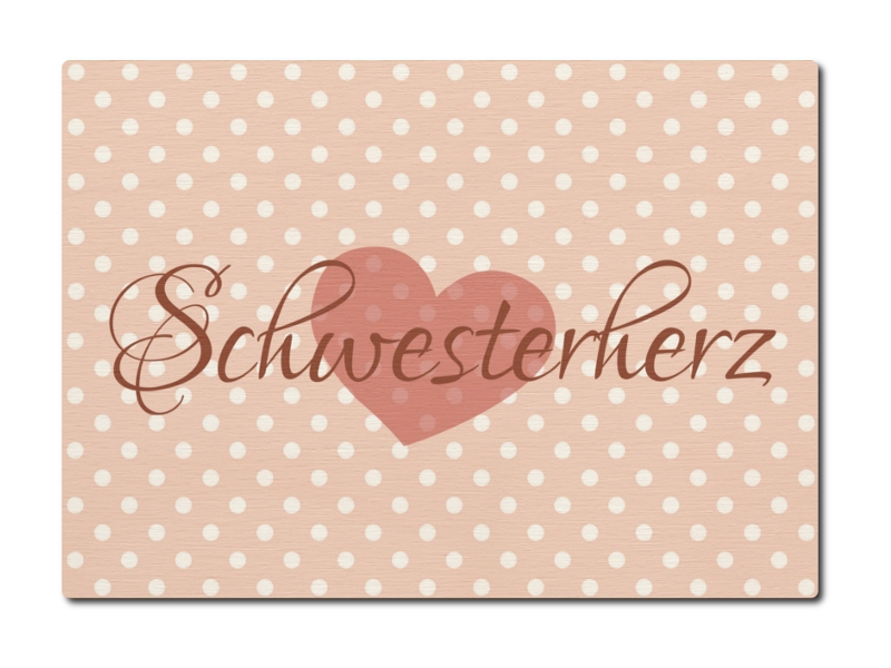 luxecards postkarte aus holz schwesterherz geburtstag geschenk famili. Black Bedroom Furniture Sets. Home Design Ideas