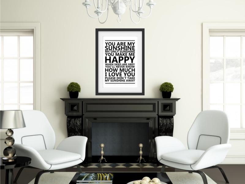 Shabby vintage kunstdruck sei du selbst motivation poster for Wanddekoration vintage