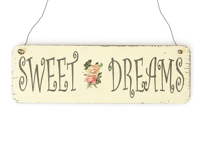 shabby vintage schild t rschild sweet dreams bunt holzschild dek. Black Bedroom Furniture Sets. Home Design Ideas