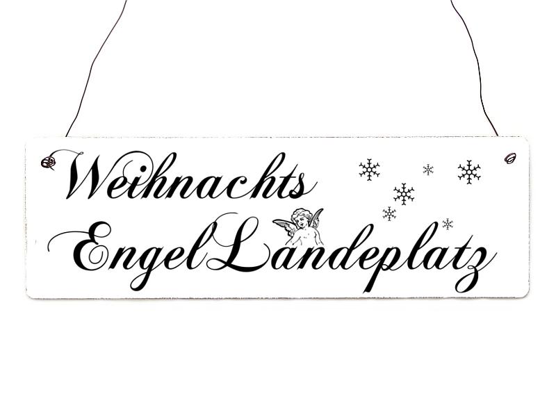shabby vintage schild t rschild weihnachtsengel landeplatz. Black Bedroom Furniture Sets. Home Design Ideas