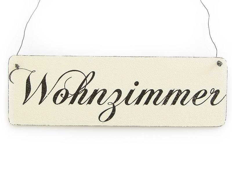 vintage deko wohnzimmer:Vintage Deko Schild Türschild WOHNZIMMER Shabby Nostalgie Landhaus