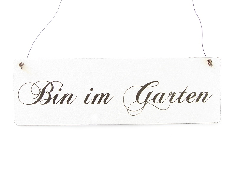 vintage shabby schild dekoschild t rschild bin im garten holzsch. Black Bedroom Furniture Sets. Home Design Ideas