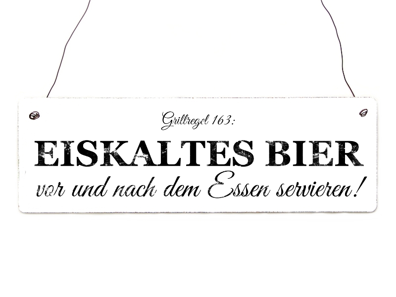 vintage shabby t rschild eiskaltes bier geschenk holzschild gril. Black Bedroom Furniture Sets. Home Design Ideas