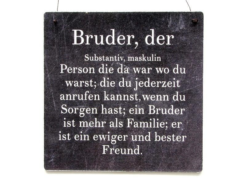 xl shabby vintage schild dekoschild bruder holzschild. Black Bedroom Furniture Sets. Home Design Ideas