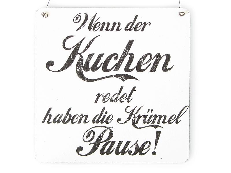 ... Vintage Schild WENN DER KUCHEN REDET Dekoschild Landhaus Küche Kinder