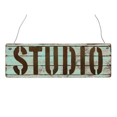 INTERLUXE Holzschild STUDIO Geschenk Deko Shabby Vintage ...
