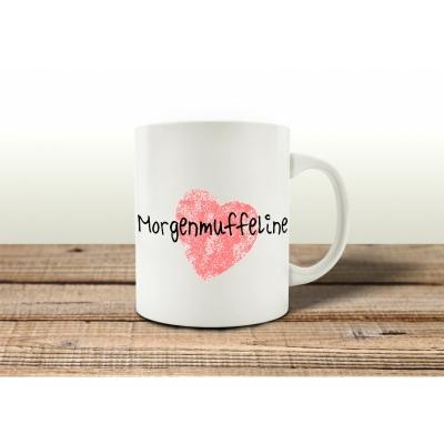 kaffeebecher tasse morgenmuffeline spruch geschenk lustig shabby fr u. Black Bedroom Furniture Sets. Home Design Ideas