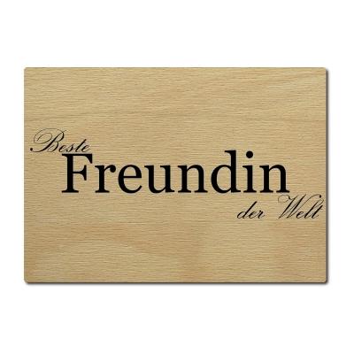 luxecards postkarte holzpostkarte beste freundin der welt. Black Bedroom Furniture Sets. Home Design Ideas