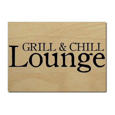 luxecards postkarte aus holz grill chill lounge sommer grillen. Black Bedroom Furniture Sets. Home Design Ideas