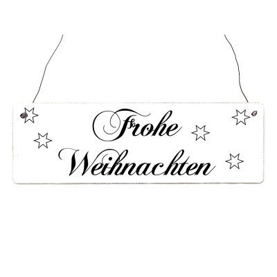 shabby vintage schild t rschild frohe weihnachten 1 landhaus dek. Black Bedroom Furniture Sets. Home Design Ideas