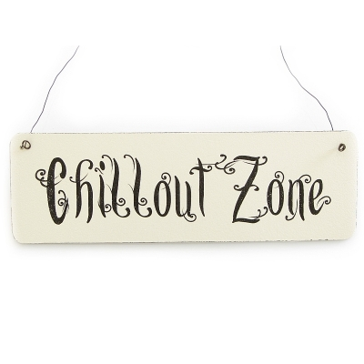 vintage deko schild t rschild chillout zone shabby nostalgie lan. Black Bedroom Furniture Sets. Home Design Ideas