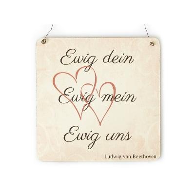Xl shabby vintage schild dekoschild ewig dein ewig mein for Ewig dein ewig mein ewig uns englisch