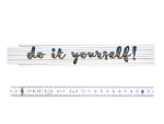 ZOLLSTOCK Spruch DO IT YOURSELF Meterstab Geschenk...