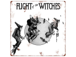 20x20cm METALLSCHILD Türschild FLIGHT OF THE WITCHES...