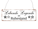 INTERLUXE Holzschild LEBENDE LEGENDE lustig Spruch Held...