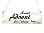 INTERLUXE Holzschild ADVENT ADVENT Türschild Deko...