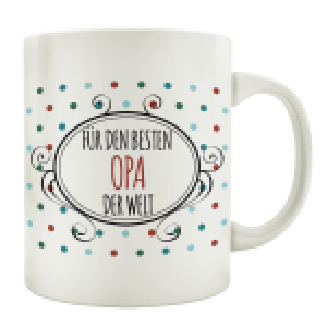 TASSE Kaffeebecher FÜR DEN BESTEN OPA DER WELT...
