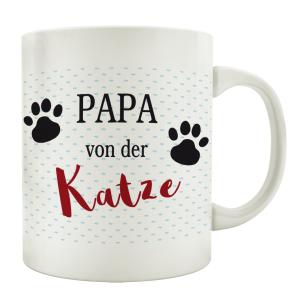 TASSE Kaffeebecher PAPA VON DER KATZE Tierisch Mann...