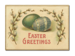 LUXECARDS POSTKARTE aus Holz EASTER GREETINGS Ostern...