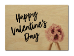 LUXECARDS POSTKARTE aus Holz HAPPY VALENTINES DAY...