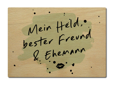 luxecards postkarte aus holz mein held bester freund ehemann m. Black Bedroom Furniture Sets. Home Design Ideas