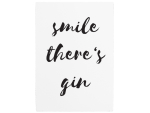 WANDTAFEL Holzschild SMILE THERE S GIN Alkohol Spruch...