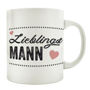 TASSE Kaffeebecher LIEBLINGSMANN Partner Geschenk...