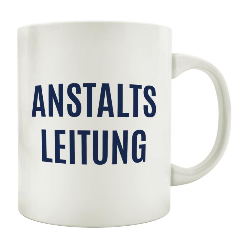 Tasse Kaffeebecher Anstaltsleitung Arbeit Buro Lustig Chef Gesch