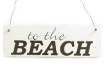 Vintage Shabby Schild Dekoschild Türschild TO THE BEACH...