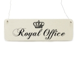 Shabby Vintage Schild Türschild ROYAL OFFICE Dekoschild...