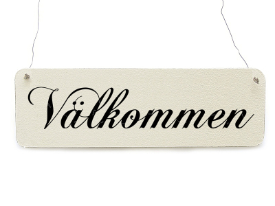 Shabby Vintage Schild Dekoschild Türschild VÄLKOMMEN wooden sign plaque welcome