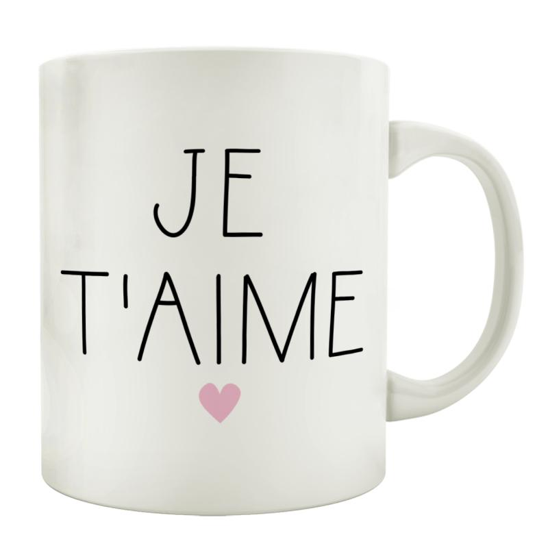 TASSE Kaffeebecher JE T\AIME Frankreich Ich liebe dich Französisch Geschenk