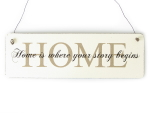 Shabby Vintage Schild Türschild HOME IS WHERE YOUR STORY...