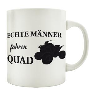 TASSE Kaffeebecher ECHTE MÄNNER FAHREN QUAD Geschenk Geburtstag Spruchtasse