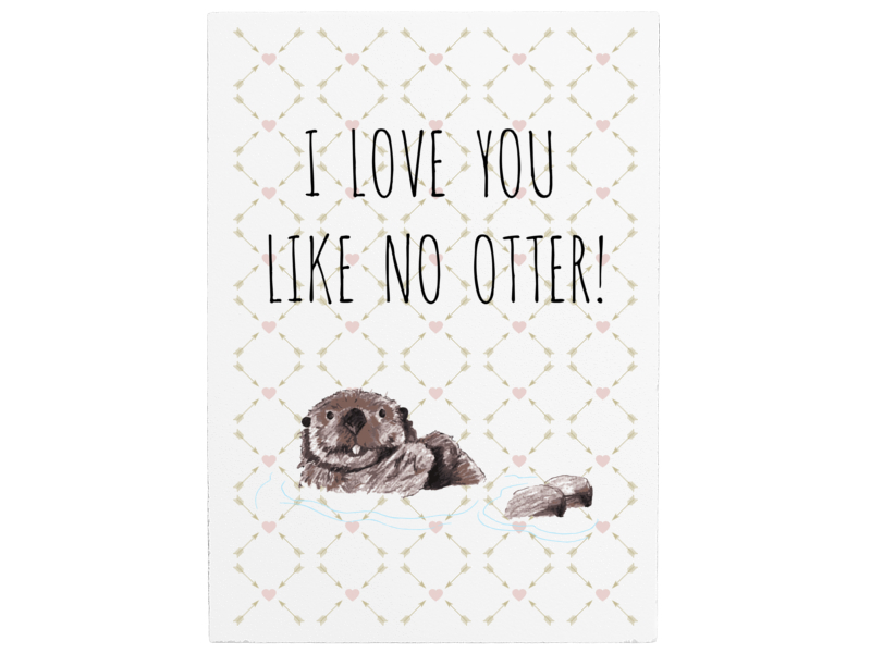 Wandtafel Holzschild I Love You Like No Otter Spruch Liebe Partner Ti