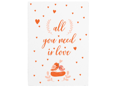 WANDTAFEL Holzschild ALL YOU NEED IS LOVE Valentinstag Liebe Mann Frau Partner
