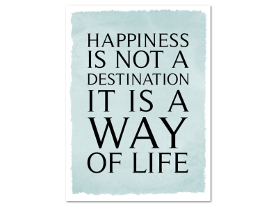 8 Magnete 95x70mm HAPPINESS IS NOT A DESTINATION