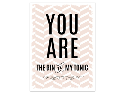 8 Magnete 95x70mm YOU ARE THE GIN TO MY TONIC