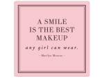 20x20cm METALLSCHILD Türschild A SMILE IS THE BEST MAKEUP...