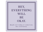20x20cm METALLSCHILD Türschild EVERYTHING WILL BE OKAY...