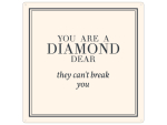 20x20cm METALLSCHILD Türschild YOU ARE A DIAMOND Pastell...
