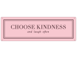 METALLSCHILD Blechschild CHOOSE KINDNESS Pastell Rosa...