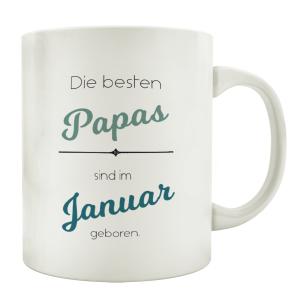 TASSE Kaffeebecher DIE BESTEN PAPAS SIND IM WUNSCHMONAT...