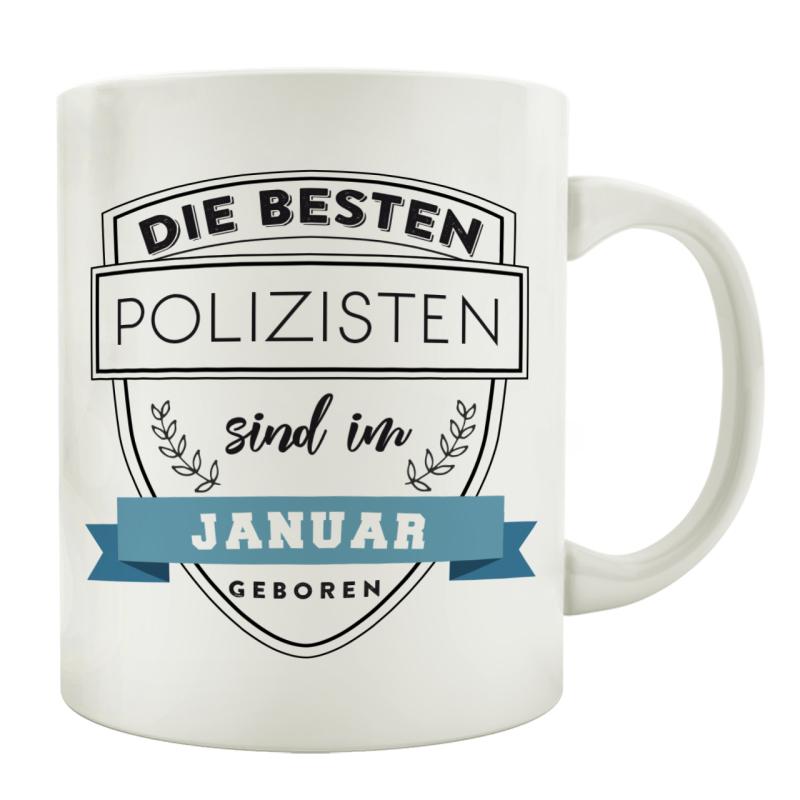TASSE Kaffeebecher DIE BESTEN POLIZISTEN Polizist Polizei Abschiedsgeschenk Geburtstagstasse