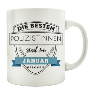 TASSE Kaffeebecher DIE BESTEN POLIZISTINNEN Polizei...