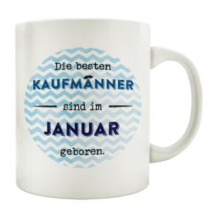 TASSE Kaffeebecher DIE BESTEN KAUFMÄNNER Büro Kollege Geburtstagsgeschenk